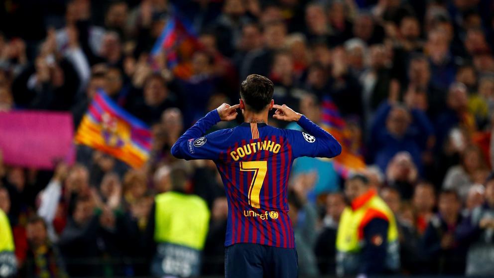 Coutinho en el Camp Nou