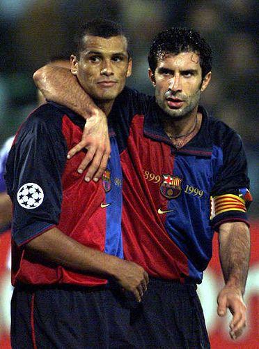 Rivaldo y Figo